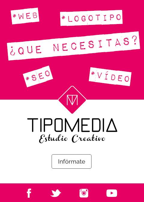 aparece el logotipo de Tipomedia Estudio Creativo